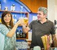 thumbs  - Stefano and Prisca with a welcome drink - Hotel Caraibi Rivazzurra di Rimini (11/55)