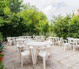 thumbs  - Garden terrace with tables and rocking, relaxing space - Hotel Morena Riccione (4/52)