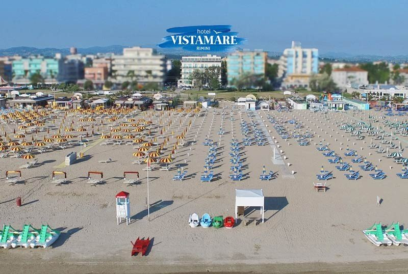 our location on the sea - Hotel Vistamare Rivazzurra di Rimini (1/60)